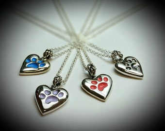 "Sterling silver ""Paw"" pendant with 16"" chain"