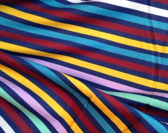Flying Nanny Mary Poppins STRIPES 95/5 Polyester/Lycra Custom knit fabric by the yard