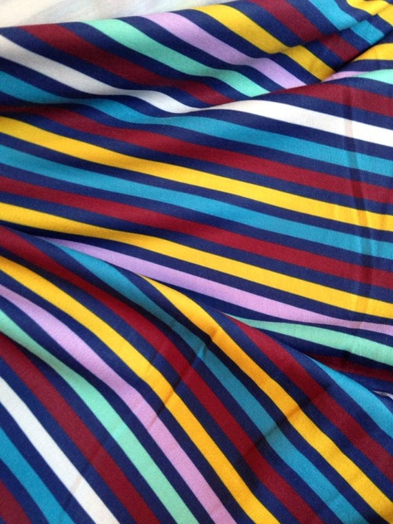Custom Knit Fabric : Flying Nanny Mary Poppins STRIPES 95/5 Polyester/Lycra Custom knit fabric by ...