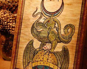 hand painted alchemy box