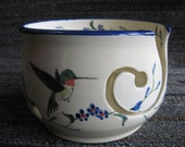 Humming bird yarn bowl for knitting or crochet ...free 2 day shipping