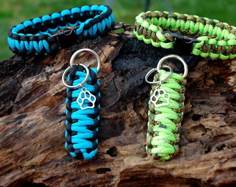 Custom Cobra Paracord Bracelet and Matching King Cobra Keychain Set, Custom Survival Bracelet, Keychain Bracelet Gifts For Him Father's Day