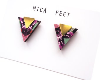 Geometric Triangle Earrings , Triangle Studs, Valentines Gift, Gift For Girlfriend, Geometric Earrings, Modern Earrings, Stud Earrings