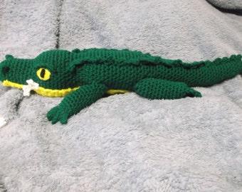 crocodile amigurumi, crochet crocodile, toy crocodile, ready to ship