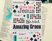 Bible Stickers, Planner Stickers, Colorful Dottie Add On, Faith Stickers