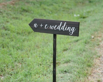 Directional Road Sign - Wedding Road Sign - Directional Wedding Sign - Wooden Wedding Sign - WS-220