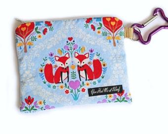 Dog Bag Holder & Treat Pouch, Foxes, Dog Bag Dispenser, Puppy Purse - Joyful Blooms
