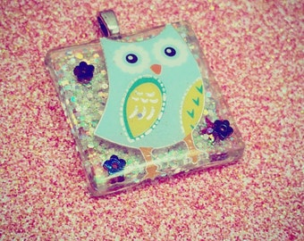 Owl Necklace, Owl Jewelry, Bird Necklaces, Kawaii Owl, Resin Jewelry, Resin Pendant Necklace, Bird necklace, Kawaii Necklace, Kawaii Jewelry
