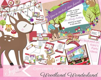 Woodland Birthday Party Invitations and Printables