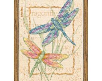 Cross Stitch Kit - Dragonfly Dance