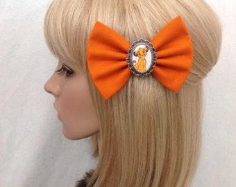 The Lion King Simba hair bow clip rockabilly psychobilly disney nala timon pumba kawaii pin up fabric orange ladies girls women