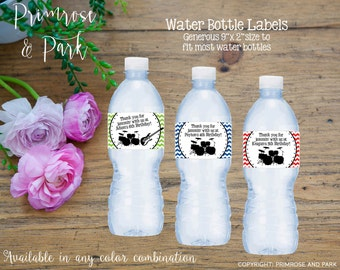 Water Bottle Labels Rockstar Music Theme // Printable PDF // Baby Shower or Birthday // Any Color