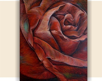 Rose, Original Acrylic Painting, Abstract Painting, Home Decor, Wall Art.