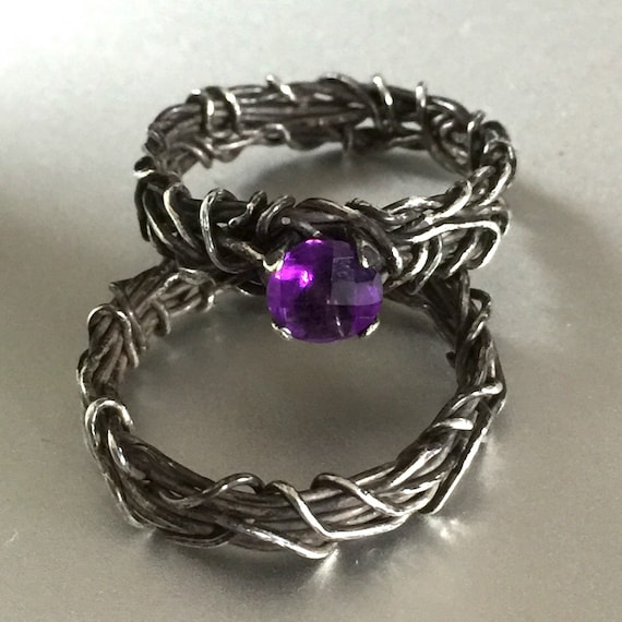 his and hers rings unique engagement ring wire wrapped