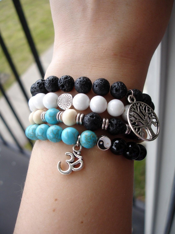 Stacked Bracelets Stack Beaded Mala Bracelet Wrist Mala Set