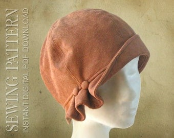 SEWING PATTERN - Madeline, 1920s Twenties Cloche Fabric Hat for Child or Adult