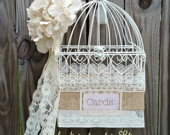 Wedding Birdcage Card Holder, Wedding Card Holder, Birdcage Decor,Box,Bridal Shower Cards Box,Wedding,Cards Box ,Shabby Chic Wedding Box