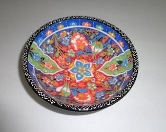 Handmade Decorative Bowl Vintage Multi-Color Floral Bowl