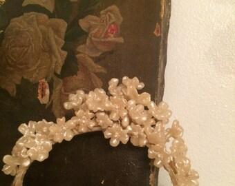 Vintage Wax Flower Tiara