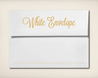 White Envelopes for Any Magnets Or Cards