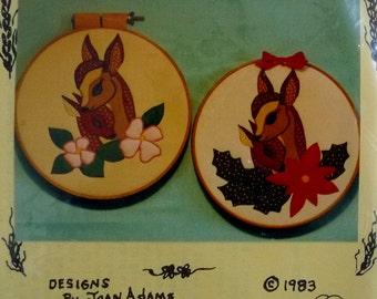 "Vintage Deer Applique Pattern ""TenderLove"" by Country Crafts - For Machine Applique NEW"