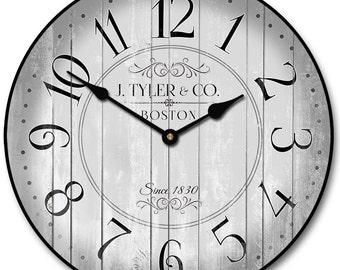 Harbor Gray Wall Clock