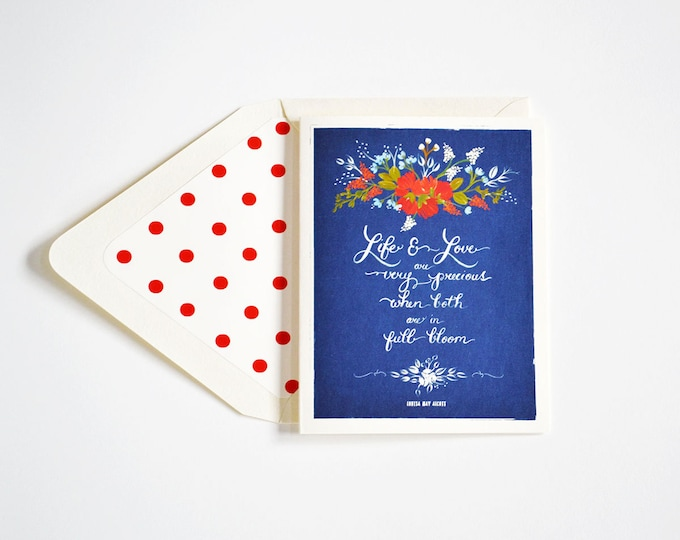 Life and Love are very precious Card