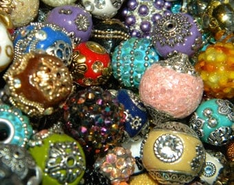 NEW Jesse James Loose bead BOHO-Elite (ONLY) 6mm-20mm Mixed 20/pcs Randomly Mixed lot