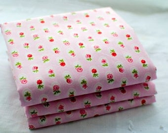 Pink Floral, Rose and Hubble, Cotton Fabric, Fat Quarter