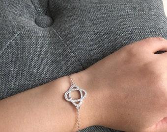 Sparkling Sterling Silver Mother of Groom Wedding Bracelet