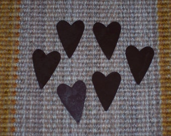 rusty tin folk heart,1.5 inch,6/pkg,rusty Accents,folk,country,rustic,patriotic craft
