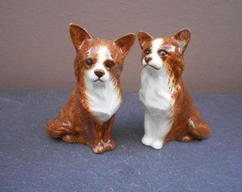 Chihuahua Dog Salt and Pepper Shaker Chihuahua Salt and Pepper Hand Painted Stunning Supplied Gift Boxed
