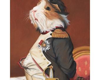 Guinea Pig Canvas Prints, Napoleon Portrait, Guinea Pig Pet Portraits