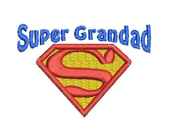 super grandad embroidery design