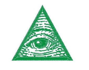 Illuminati embroidery design