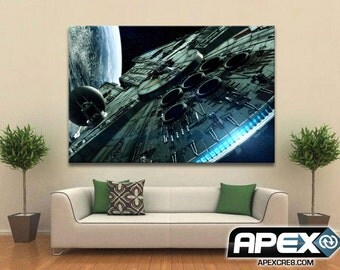 Millennium Falcon - Star Wars - Stunning Canvas Print! - Sizes small to Large