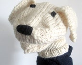 Puppy Dog Hand Puppet Hand Knit Sock Puppet for Adult or Child Birthday Gift Present Toy Pretend Play