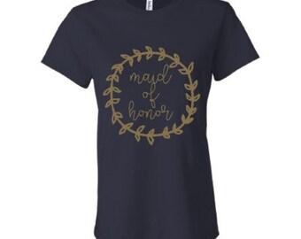 Maid of Honor Laurel Wreath Tee