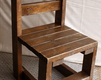 Vintage Handmade Homemade Primitive Solid Knotty Pine Wood Wooden 2x4 Chair Seat