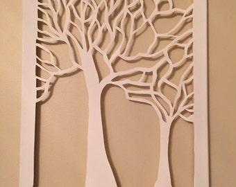 True Tree Cut Canvas