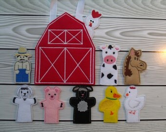 Barn Yard Finger Puppet Set