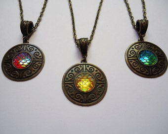 Khaleesi Inspired Necklace - 9 Colors Dragon Game of Thrones Gift For Her
