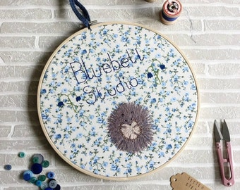 Personalised, Embroidery Hoop, Business Sign, Logo, Welcome Sign, Freehand Machine Embroidery Designs, Small Business, Design It Yourself