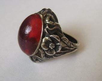fabulous antique dragon's breath ring, size 6.75