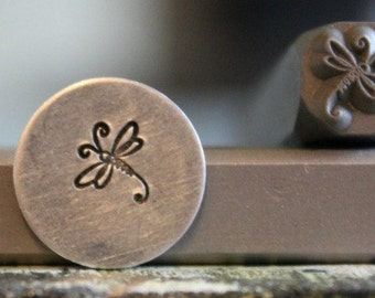 6mm Dragonfly Metal Design Stamp - SGUB-27