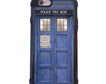 Doctor Who Tardis 2 Piece Case with Extra protection For iPhone 6 or iPhone 6s. Tardis iPhone case, Dr Who iPhone case.