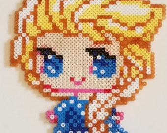 Elsa....Perler Bead Magnet
