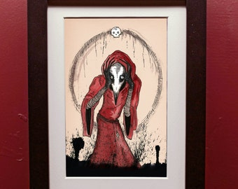 Plague! Archival Print in 4 by 6 Inch Black Frame
