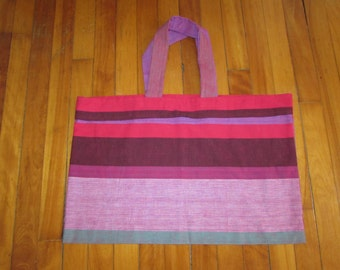 Striped Tote Bag