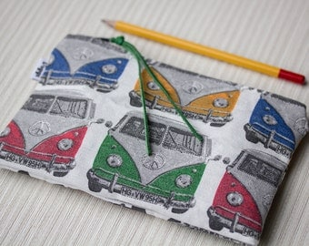 Zipper pouch Volkswagen, pencil case, VW zip bag